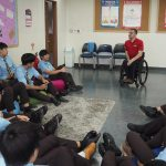 Andy Barrow holds a personal, social and health education lesson in Korea
