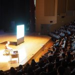Andy delivers a whole-school education assembly at NLCS Jeju