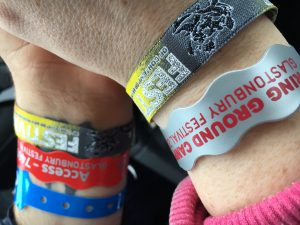 Glastonbury 2016 wristbands