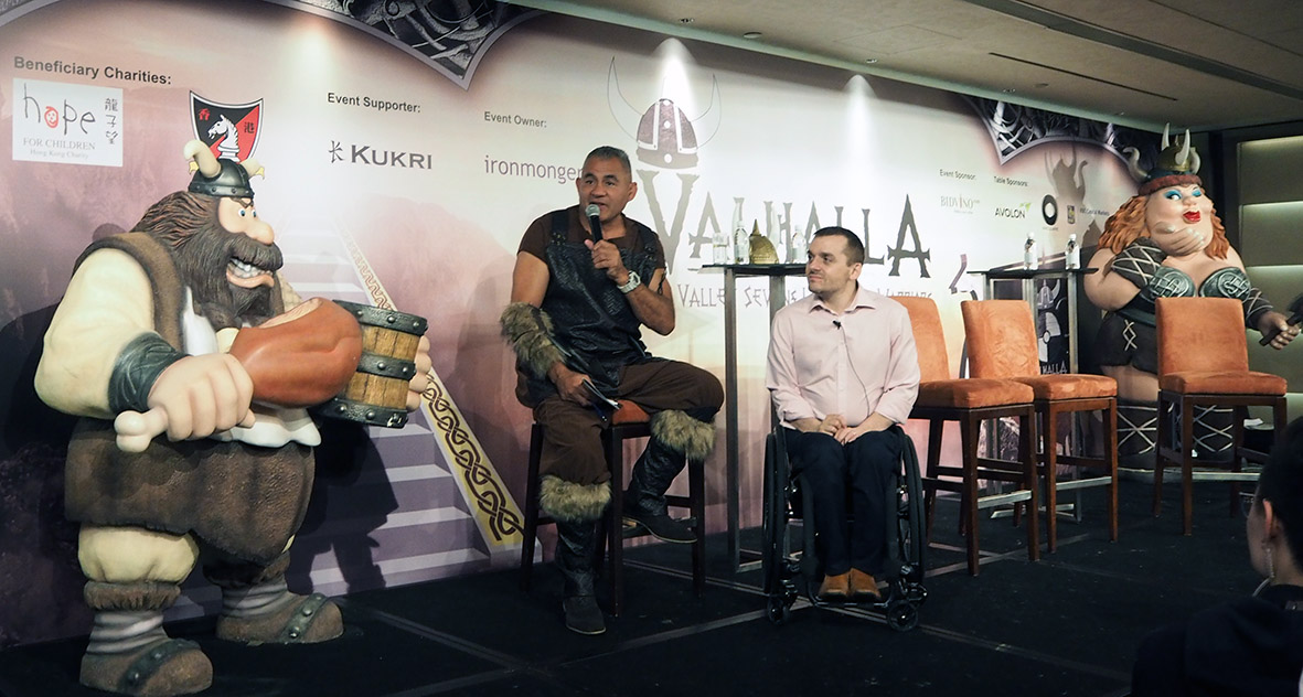 Andy Barrow At the Long Lunch in Hong Kong with Eric Rush