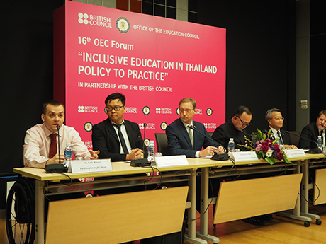 Andy Barrow speaking at the Inclusive Education Forum in Bangkok